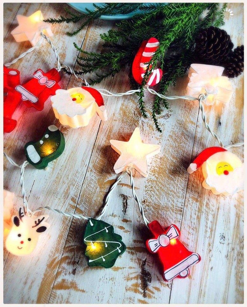 20聖誕套裝棉球燈串聖誕棉球