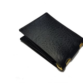 Men's banknote clip leather hand made (both with card release function) / card number can be changed