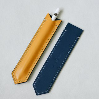 BILLIE Yellow&Blue Leather Cute Pen Case / Pen Holder/ Apple Pen Soft Cover