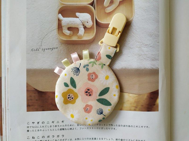 小花 圓型平安符袋 緞帶款 彌月禮物 平安符袋 香火袋