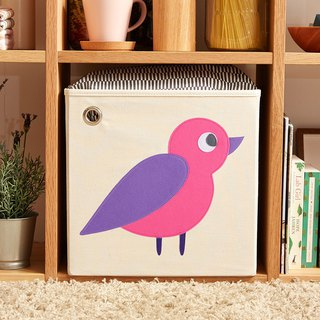 American kaikai & ash Toy Storage Box - Forest Bird (Purple)