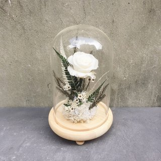 Everlasting White Rose Micro Glass Cover