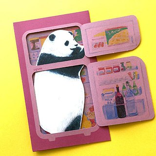 Greeting card/Panda's patrolling