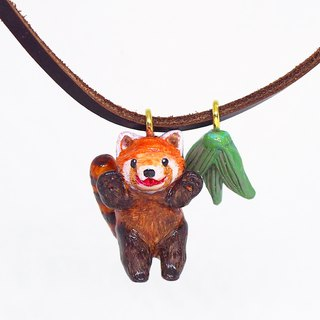 Red Panda handmade necklace