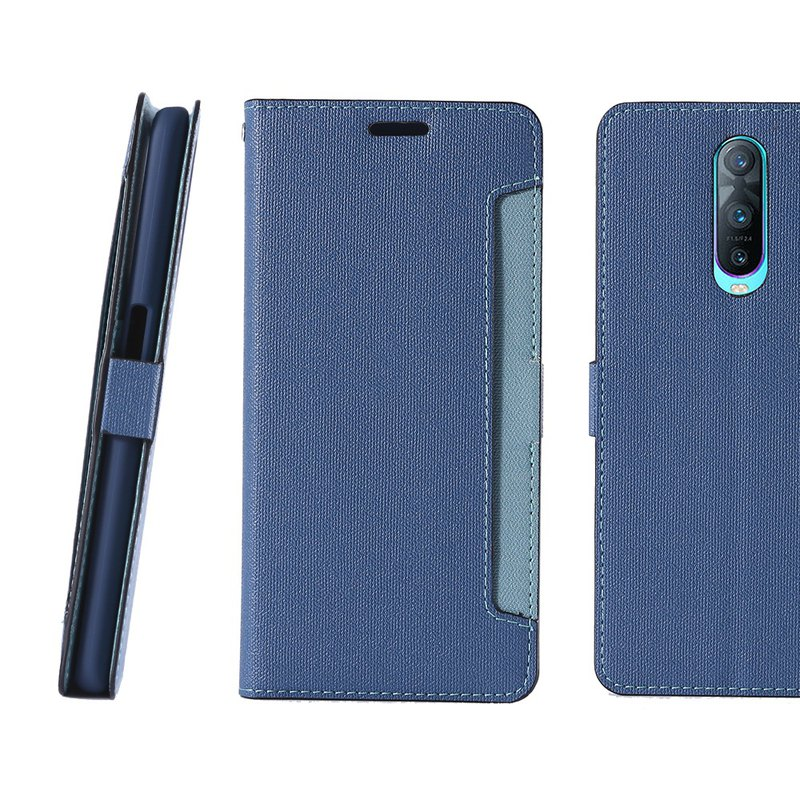 CASE SHOP OPPO R17 Pro special front storage side holster - blue (4716779660470