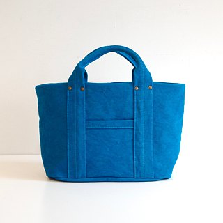 Kurashiki canvas mini tote - Rich blue