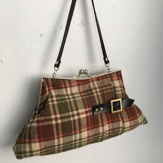 Frame bag/bag/Handbag/Kisslock Clutch/Scottish skirt