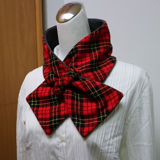 Adjustable short scarf. Scarf Warm bib double-sided two-color adults. Suitable for children