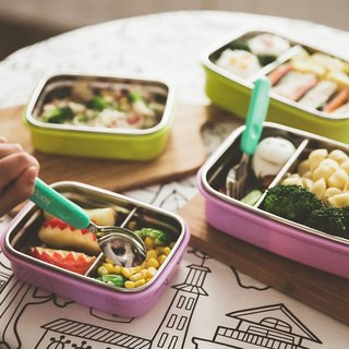 [Eco-friendly tableware] US kangovou stainless steel safe baby lunch box--lilac