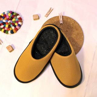 AC RABBIT function indoor air cushion slippers - all-inclusive - yellow comfortable decompression original / sp-1208T-Mcp