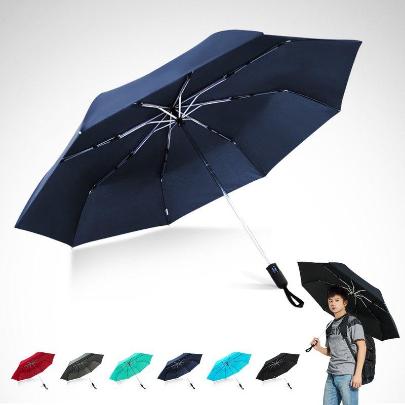 TDN省力回壓極簡超撥水自動開收傘超大防風雨傘(海藍)