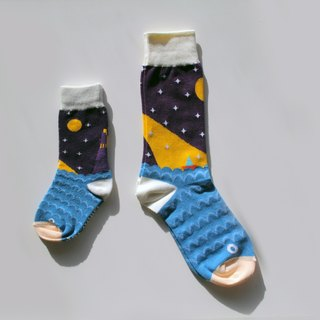 ▲ my boat my sea ▲ COMME MOI parent-child socks series (a pair of feet socks + a pair of feet socks): 500 gifts