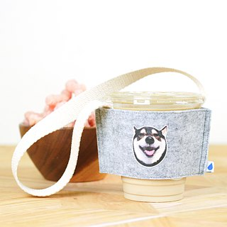 Customized pet hair/felt eco-friendly cup set beverage bag