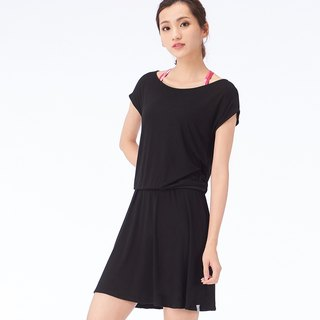 [MACACA] Light Afternoon Dress - BSE8031 Black (Yoga/Jogging/Fitness/Light Exercise)