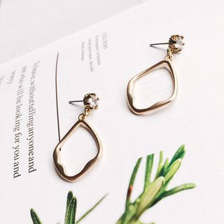 La Don - Irregular fog gold geometric ear