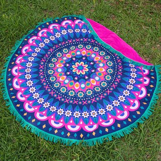 Mandala Round Beach Towel Blanket