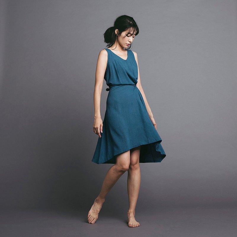 多穿法洋裝 - 藍