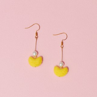 Pinkoi Anniversary Sale - Smile Wool Felt Earrings / Ear Clips