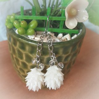 Christmas White Onion Pine Earrings Earrings / Earrings (Small Crystal)