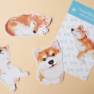 Shiba Inu Dog Luggage Stickers/ Vinyl Sticker/ Planner Window LaptopCell Phones