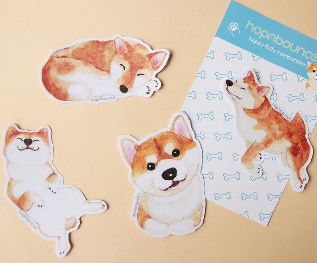 laptop sticker Dog decal Shiba Inu: Dog Car Window Sticker water bottle sticker dog sticker