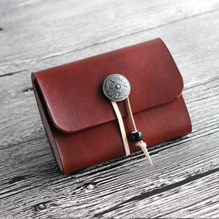 Red brown 20 card position leather card holder leather business card holder business card set free lettering customized