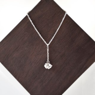 Handmade Herkimer diamond with sterling silver Necklace, April Birthstone
