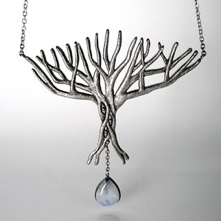 Limited - Forest Fantasy moonstone sterling silver necklace