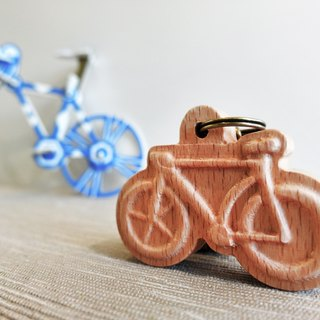 【Sports Series】 Bicycle Key Ring bicycle english Wooden Key Ring Pendant Charm