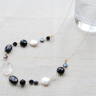 Crystal monotone necklace 14 kgf