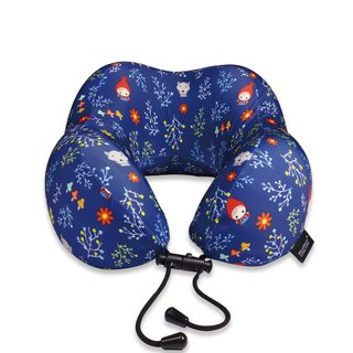 Murmur Rolling Neck Pillow / Little Red Riding Hood Blue NP017
