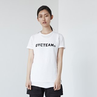 DYCTEAM - Flocking LOGO Slubbed Fabric Tee