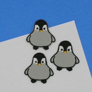 Mini Penguin Iron Patch (Grey; Baby Penguin)