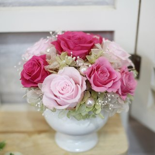 Romantic small table flower (rose pink paragraph) -9 Duo