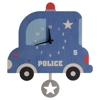 modern moose-3D clock-police-car-pendulum-clock