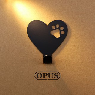[OPUS Dongqi Metalworking] When the cat encounters the symbol of love - hook (black) / wall hanging hook / no trace
