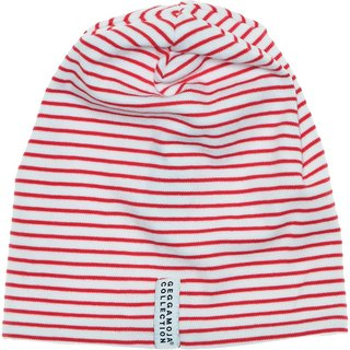 [Nordic children's clothing] Swedish organic cotton striped hat _ red
