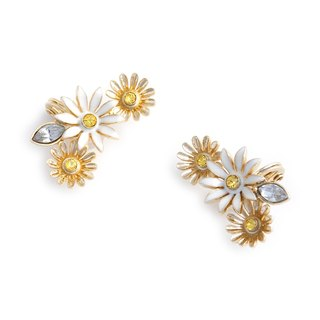 JewCas Margaret Series Margaret Crystal Air Ear Clip _JC2485