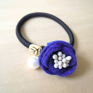 RARAPUPU flowers pearl hair ring treasure blue