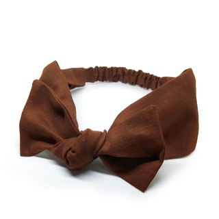 [Shell craft] caramel latte bow hair band (super wild)