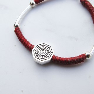 Big staff Taipa [old and young] suitable for peace and safety × gossip sterling silver hand-woven wax rope bracelet