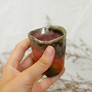 Wood fired pottery. Hand pinch small tea cups grow like flowers 2