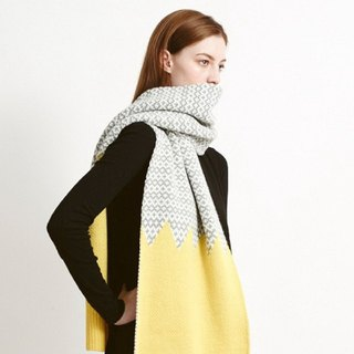 Graphic Scarf Yellow