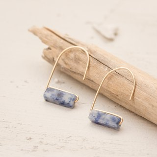 LITHUANIA Earrings, natural Sodalite stone and 14k gold filled