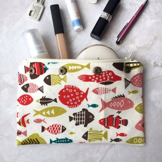 Zipper pouch (Button cube insert)
