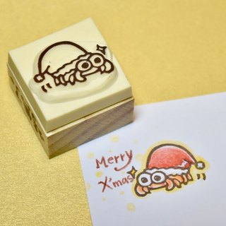 Christmas limit Christmas hermit crab manual rubber stamp