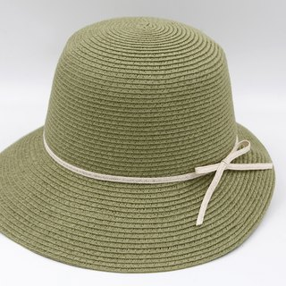 [Paper cloth home] Hepburn hat (military green) paper line weaving