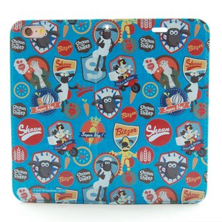 "Smiled sheep genuine authority (Shaun The Sheep) - Magnetic phone holster (blue-green): [lamb] Medal ""iPhone / Samsung / HTC / ASUS / Sony"""