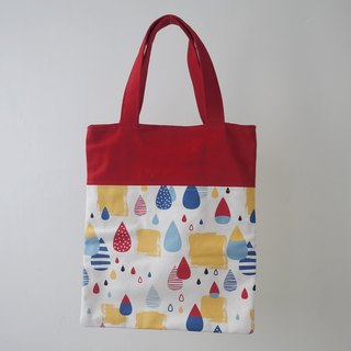 Easy to mention small book bag / lunch bag / hand bag / walking bag / parent-child bag = rain walking = red
