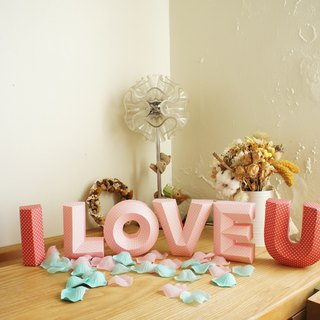 Wedding props / shooting props / I LOVE U / three-dimensional characters wealthy /